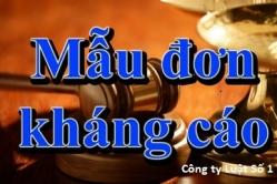 Đơn kháng cáo vụ án dân sự