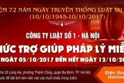 THÔNG BÁO (V/v Trợ giúp pháp lý miễn phí)